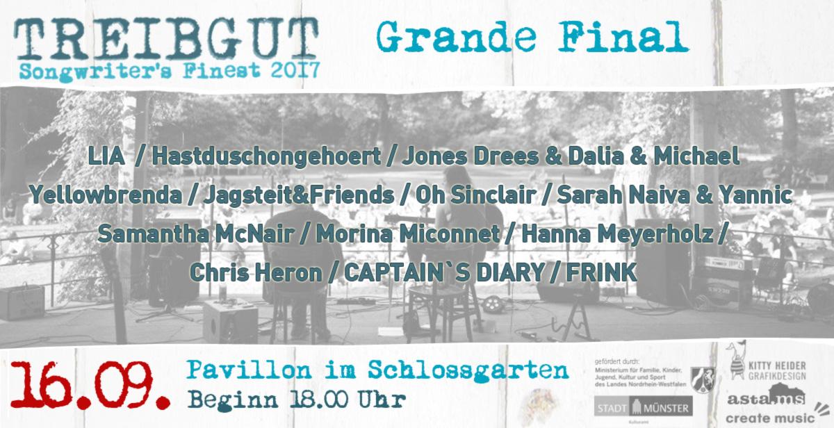Treibgut Festival - Grand Final - Schlossgarten Pavillon Münster