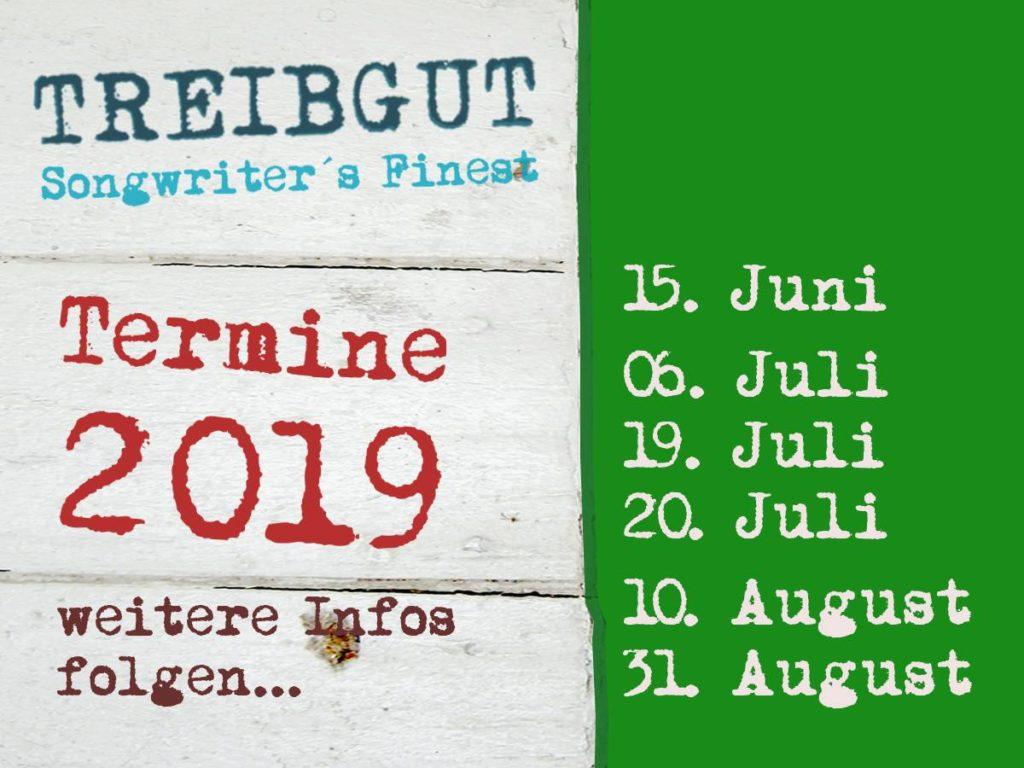 Treibgut Konzerte - 2019 - Termine